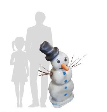 pupazzo di neve in polistirolo