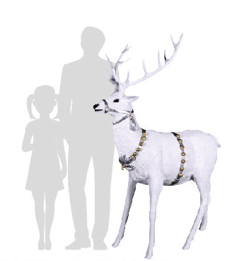 renna babbo natale bianca