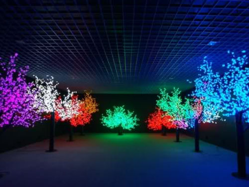 alberi luminosi